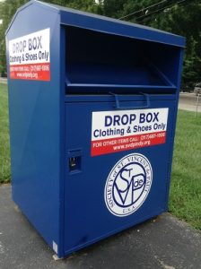 Find a SVdP clothing donation bin near you.